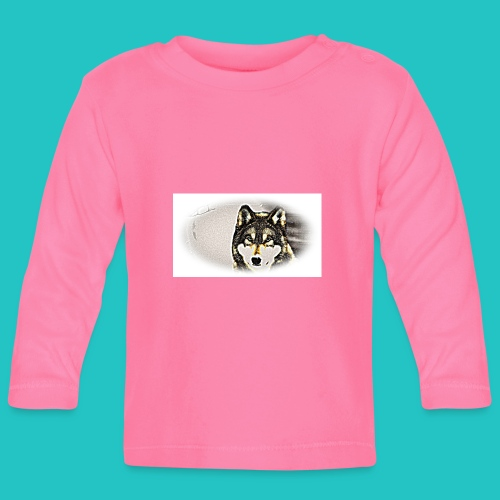 Bluza Wilk - Koszulka niemowlęca z długim rękawem