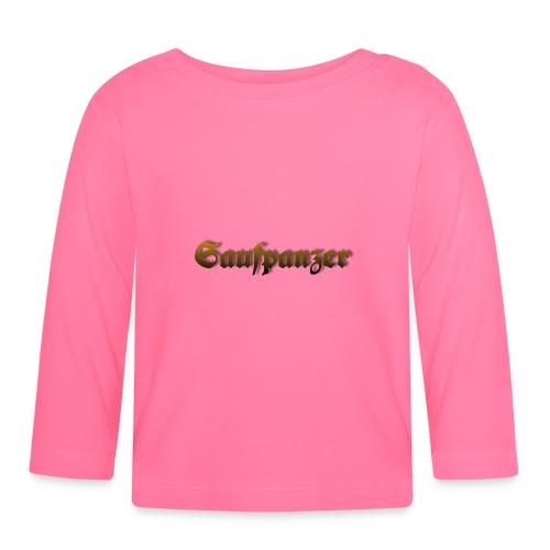 Saufpanzer_Schriftzug_Gold - Baby Langarmshirt