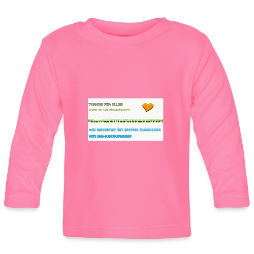 MAUSPAD THANKS FOR 70 subs on YT LUSTAUFWURST - Baby Langarmshirt