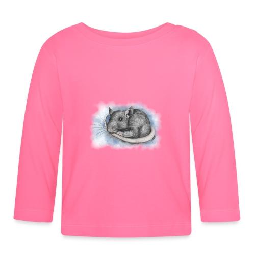 Rottapiirros - Värikuva - Vauvan pitkähihainen paita