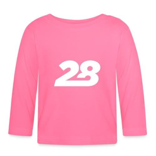 28 White - Baby Long Sleeve T-Shirt