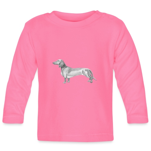 Dachshund smooth haired - Langærmet babyshirt