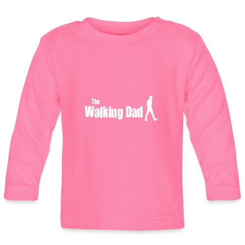 the walking dad white text on black - Baby Long Sleeve T-Shirt