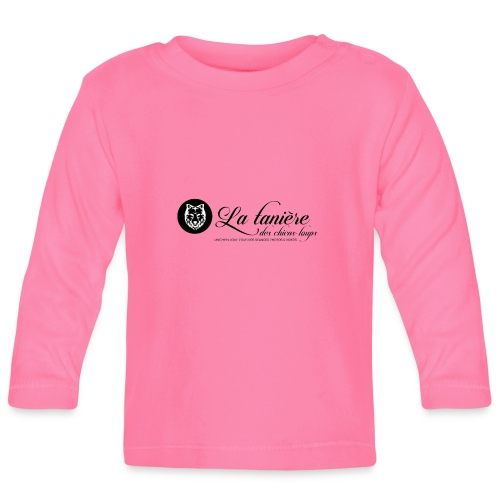 La Tanière des Chiens-Loups(logo plus grand) - T-shirt manches longues Bébé