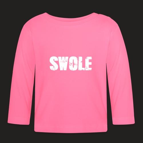 SWOLE FLAT CAP - Baby Long Sleeve T-Shirt