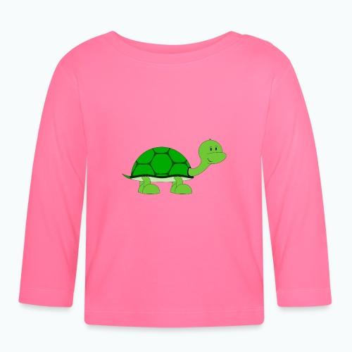 Totte Turtle - Appelsin - Långärmad T-shirt baby