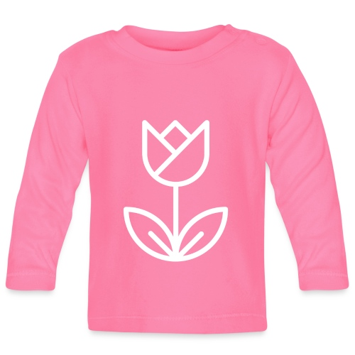Tulip white png - Baby Long Sleeve T-Shirt