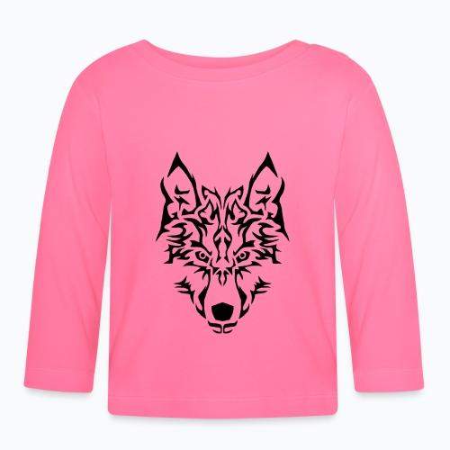 Tribal Wolf - T-shirt manches longues Bébé