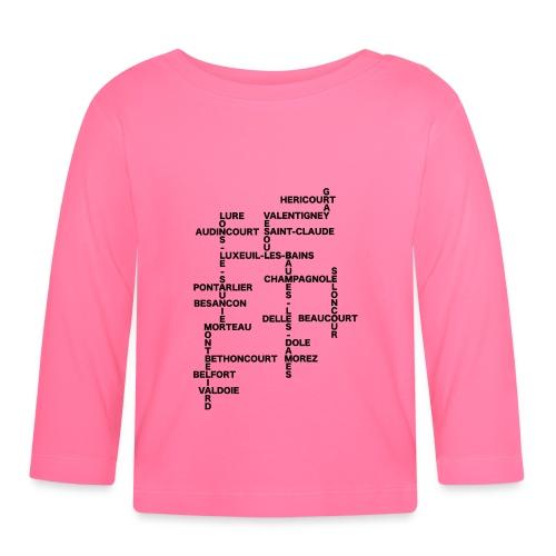 Franche-Comté mots croisés - T-shirt manches longues Bébé