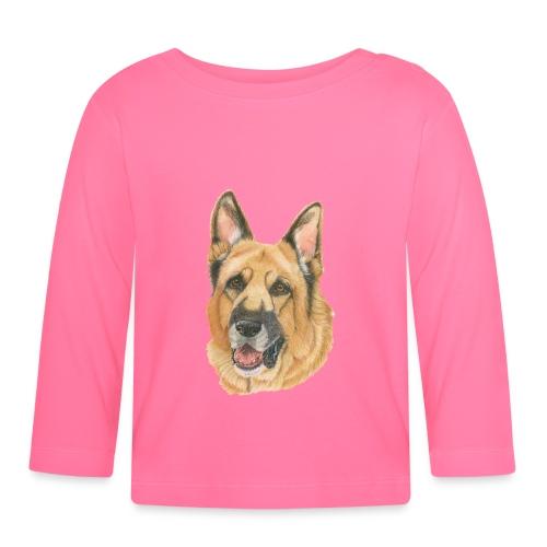 german shepherd color - Langærmet babyshirt