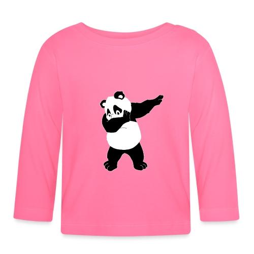 Dabbing Panda Bär - Baby Langarmshirt
