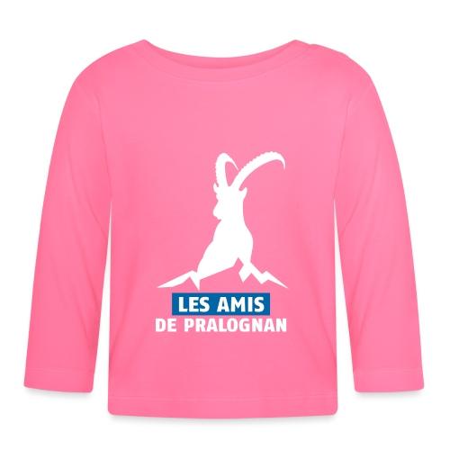 Logo Les Amis de Pralo grand blanc - T-shirt manches longues Bébé