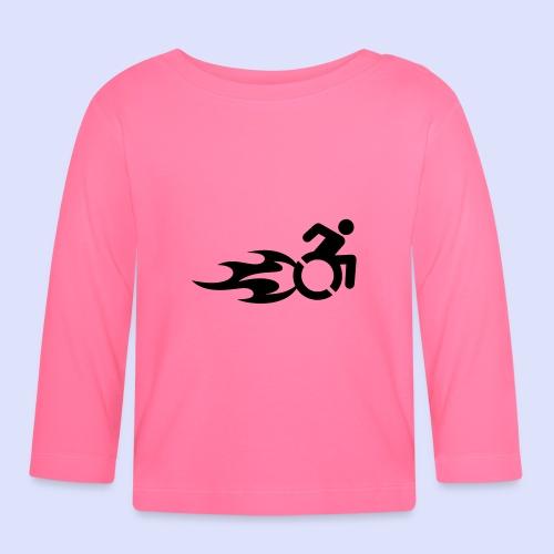 Rolstoel gebruiker met vlammen 013 - T-shirt