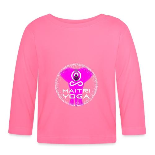 Pink Elephant Om - T-shirt manches longues Bébé