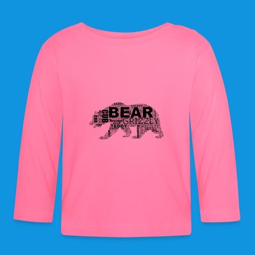 Bear Word Cloud black text - Baby Long Sleeve T-Shirt