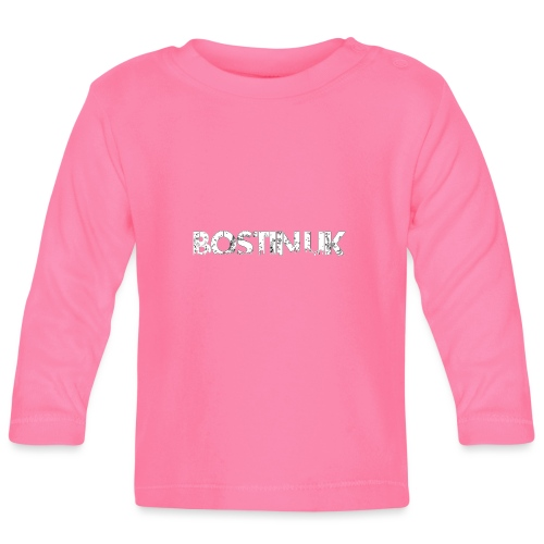 bostin uk white - Baby Long Sleeve T-Shirt