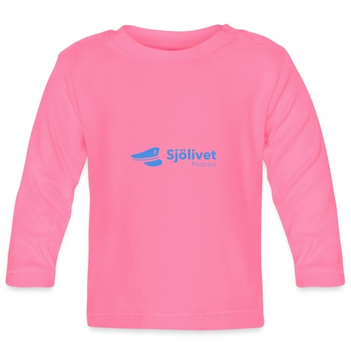 Sjölivet podcast - Svart logotyp - Långärmad T-shirt baby