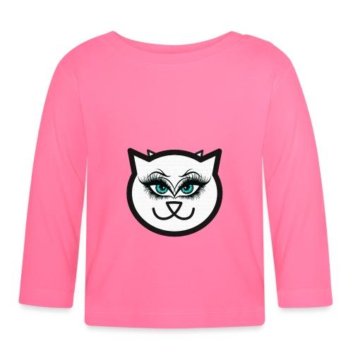 Hipster Cat Girl by T-shirt chic et choc - T-shirt manches longues Bébé