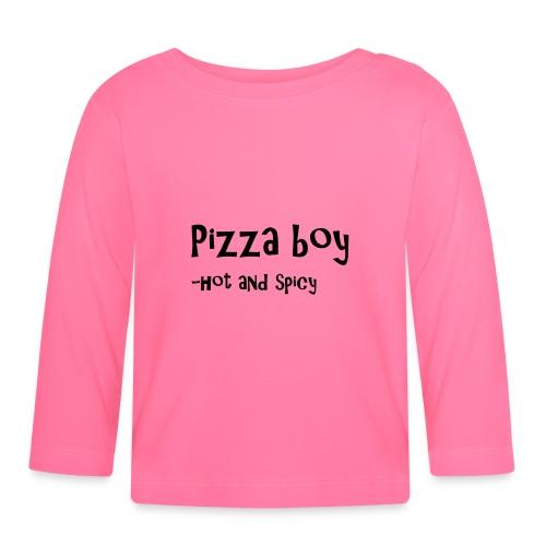 Pizza boy - Langarmet baby-T-skjorte