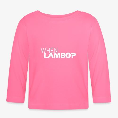 HODL-when lambo-w - Baby Long Sleeve T-Shirt
