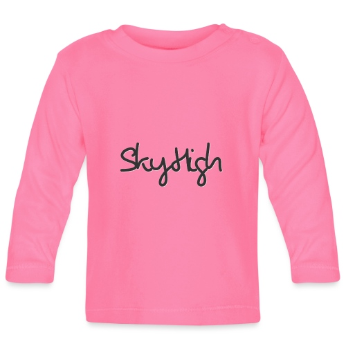SkyHigh - Men's Premium T-Shirt - Black Lettering - Baby Long Sleeve T-Shirt