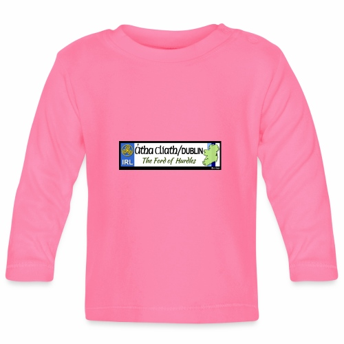 CO. DUBLIN, IRELAND: licence plate tag style decal - Baby Long Sleeve T-Shirt
