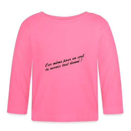 Car même pour un seul - T-shirt manches longues Bébé