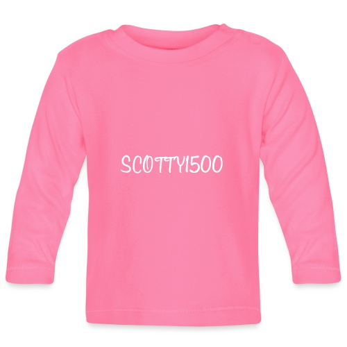 Scotty1500 Hat (Black) - Baby Long Sleeve T-Shirt