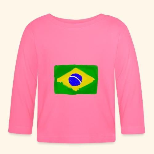 Brazilian flag InWatercolours - Långärmad T-shirt baby