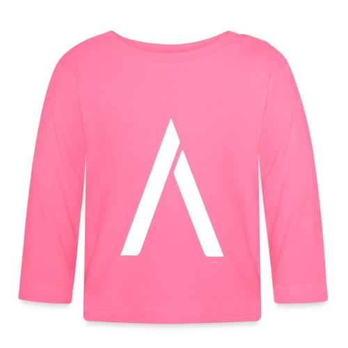 A-hvid - Langærmet babyshirt