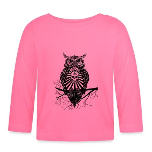Hibou Psychédélique - T-shirt manches longues Bébé
