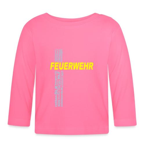 Feuerwehr Shirt mit deinem eigenen Stadtnamen - Baby Langarmshirt