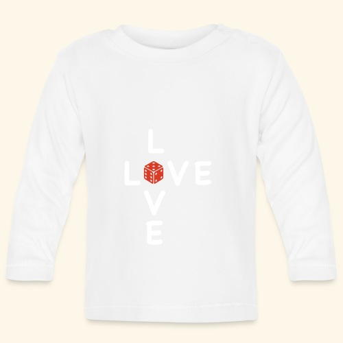 LOVE Cross white wuerfel red 001 - Baby Langarmshirt
