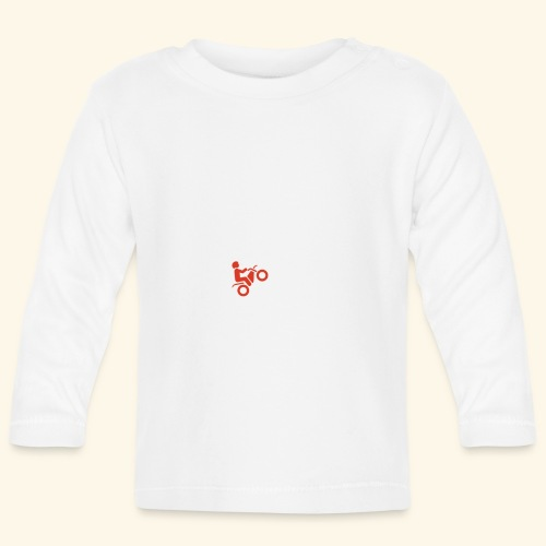 LOVE Cross white wheely red 001 - Baby Langarmshirt