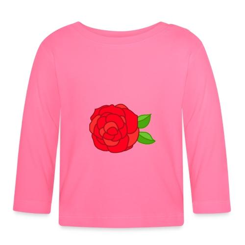 Róża - Koszulka niemowlęca z długim rękawem