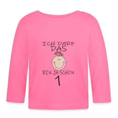 1 Geburtstag - Baby Langarmshirt