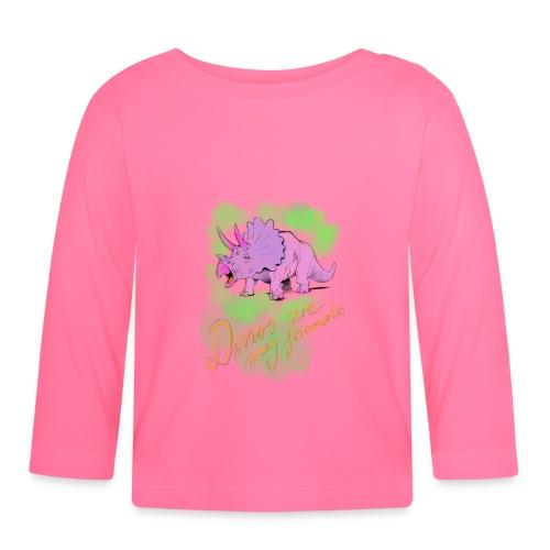 Dino Geschenkidee zum Kindergeburtstag Mädchen 1 - Baby Langarmshirt