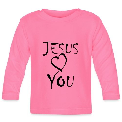 jesus loves you - Baby Langarmshirt