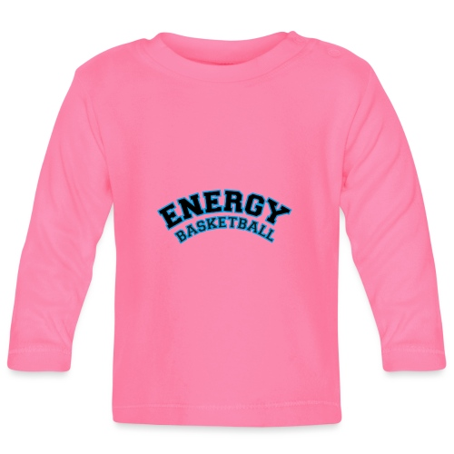 baby energy basketball logo nero - Maglietta a manica lunga per bambini