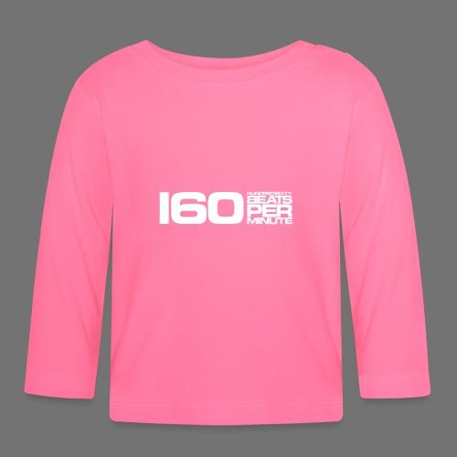 160 BPM (białe długie) - Koszulka niemowlęca z długim rękawem