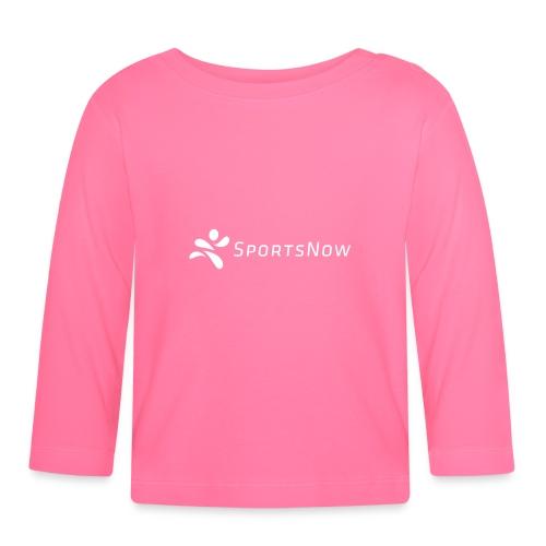 SportsNow-Logo Weiss - Baby Langarmshirt
