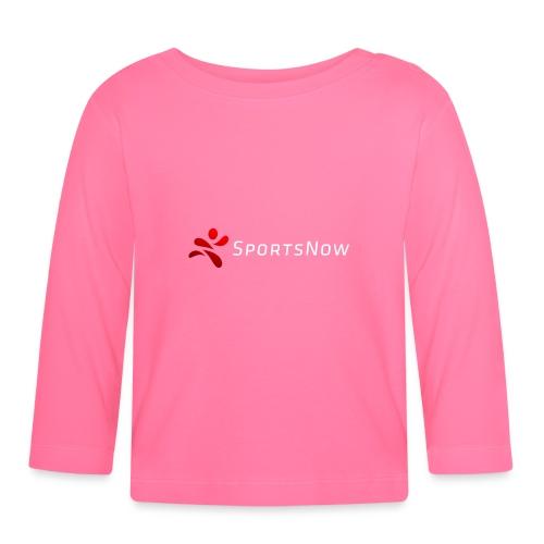SportsNow-Logo mit weisser Schrift - Baby Langarmshirt