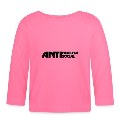 Antifaso_svart - Långärmad T-shirt baby