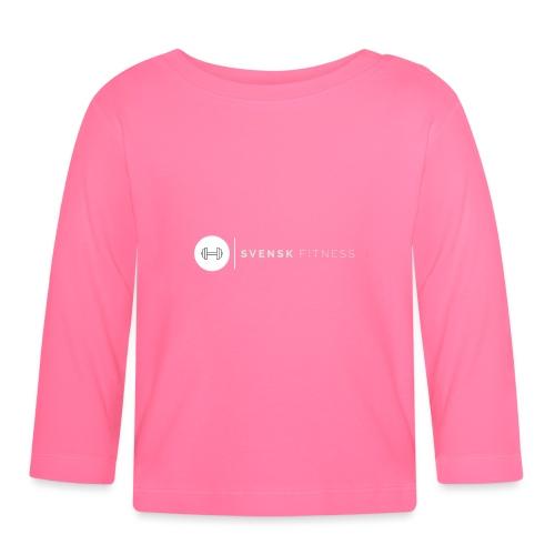 Linne med vit vertikal logo - Långärmad T-shirt baby