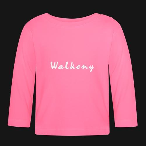 Walkeny Schriftzug in weiß! - Baby Langarmshirt