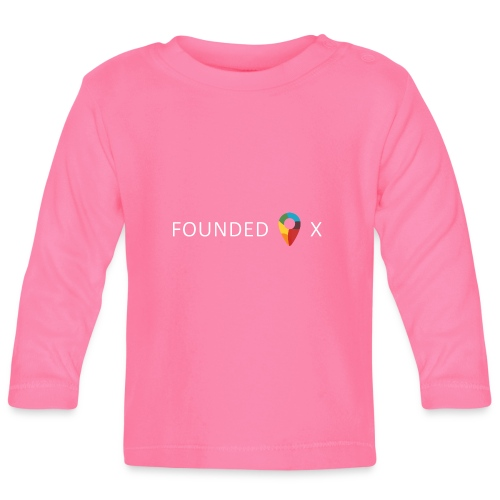FoundedX logo white png - Baby Long Sleeve T-Shirt