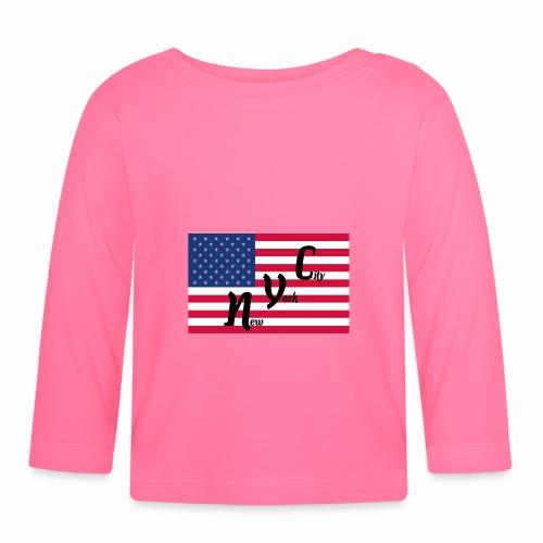 America Flag NYC - Baby Langarmshirt