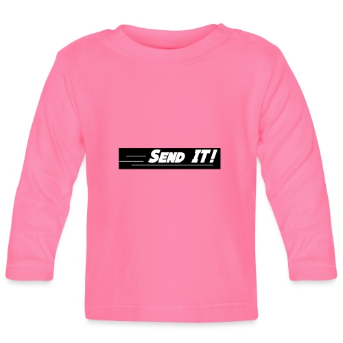 send it logo black and white - Baby Long Sleeve T-Shirt