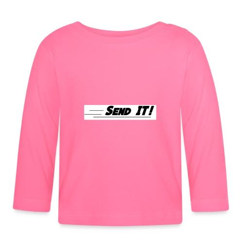 send it logo white - Baby Long Sleeve T-Shirt