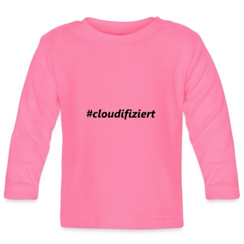 #cloudifiziert black - Baby Langarmshirt